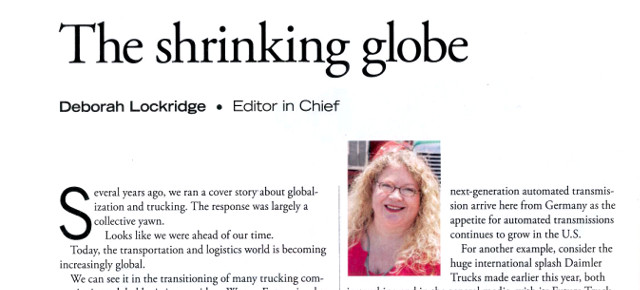 The shrinking globe
