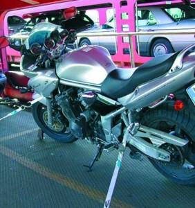 Motorradzurrgurt für DB-Autoverzurrung 2