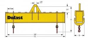 Traversen Do 315 verstellbar Dolezych