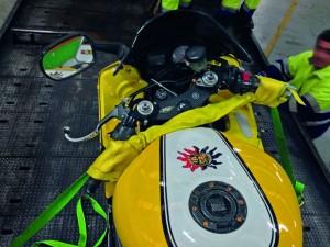 Motorradzurrgurt für Lenkersicherung