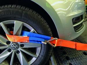 PKW-Zurrgurt mit Schlaufe für Felgensicherung 2