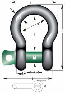 Green-Pin-Standard-Schäkel-geschweift