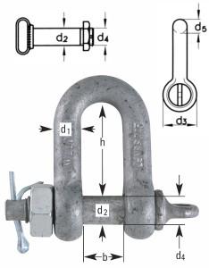 Verzinkte-Schäkel-Form-C